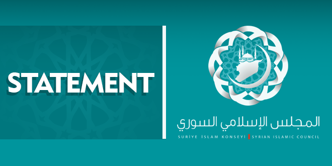 Syrian Islamic Council statement on the so-called Sochi conference